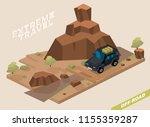 off road vehicle with roof rack ... | Shutterstock .eps vector #1155359287