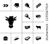 beef icon. collection of 13... | Shutterstock .eps vector #1155367414