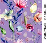 seamless pattern with wild...   Shutterstock . vector #1155368101