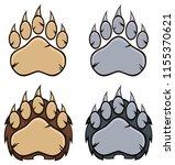 bear paw logo design concept... | Shutterstock . vector #1155370621