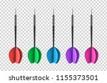 vector set of realistic... | Shutterstock .eps vector #1155373501