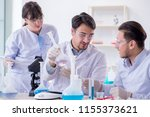 team of chemists working in the ... | Shutterstock . vector #1155373621