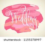wedding word. hand written...