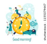 good morning. creative abstract ... | Shutterstock .eps vector #1155379447
