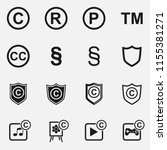 set of copyright  registered... | Shutterstock .eps vector #1155381271