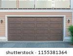 garage door in vancouver ... | Shutterstock . vector #1155381364