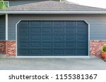 garage door in vancouver ... | Shutterstock . vector #1155381367