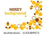 honey abstract background with... | Shutterstock .eps vector #1155389071
