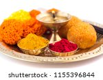 beautifully decorated pooja... | Shutterstock . vector #1155396844