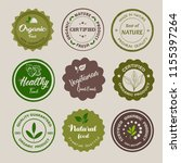 organic food  farm fresh and... | Shutterstock . vector #1155397264
