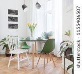 modern interior of living room...   Shutterstock . vector #1155406507