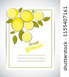 abstract lemon natural... | Shutterstock . vector #1155407161