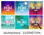 abstract summer sale background ... | Shutterstock . vector #1155407194