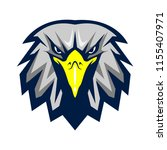 eagle head animal mascot  ... | Shutterstock .eps vector #1155407971