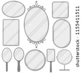 mirror set  realistic mirrors... | Shutterstock .eps vector #1155411511