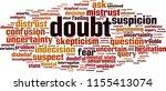 doubt word cloud concept.... | Shutterstock .eps vector #1155413074