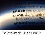 Small photo of snog word in a dictionary. snog concept.