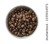dry coffee beans in bowl....   Shutterstock . vector #1155414571