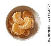 tangerine on bowl. preparing...   Shutterstock . vector #1155416407
