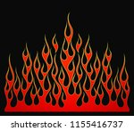 fire flames  red and yellow... | Shutterstock .eps vector #1155416737
