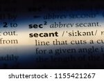 Small photo of secant word in a dictionary. secant concept.