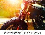 old retro motorcycle and... | Shutterstock . vector #1155422971