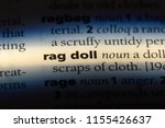 rag doll word in a dictionary....   Shutterstock . vector #1155426637
