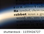 Small photo of rabbet word in a dictionary. rabbet concept.