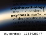 psychosis word in a dictionary. ... | Shutterstock . vector #1155428347