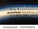 preview word in a dictionary.... | Shutterstock . vector #1155430024
