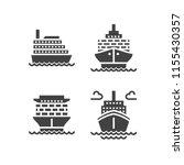 ships flat glyph icons. cargo... | Shutterstock .eps vector #1155430357