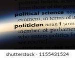 politician word in a dictionary.... | Shutterstock . vector #1155431524