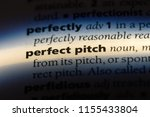 perfect pitch word in a... | Shutterstock . vector #1155433804