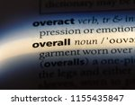 overall word in a dictionary.... | Shutterstock . vector #1155435847