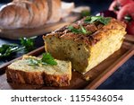 vegetarian courgette pate on... | Shutterstock . vector #1155436054