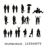 people silhouettes isolated... | Shutterstock .eps vector #115543975