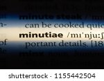 Small photo of minutiae word in a dictionary. minutiae concept.