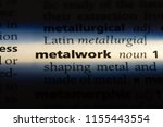 metalwork word in a dictionary. ... | Shutterstock . vector #1155443554