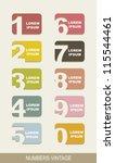 numbers vintage over beige... | Shutterstock .eps vector #115544461