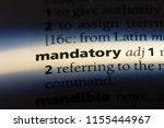 mandatory word in a dictionary. ... | Shutterstock . vector #1155444967