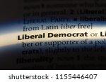 liberal democrat word in a... | Shutterstock . vector #1155446407