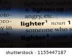 lighter word in a dictionary.... | Shutterstock . vector #1155447187