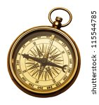 compass isolated on white | Shutterstock . vector #115544785