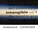 intangible word in a dictionary.... | Shutterstock . vector #1155451834