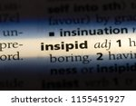 Small photo of insipid word in a dictionary. insipid concept.