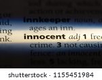 innocent word in a dictionary.... | Shutterstock . vector #1155451984