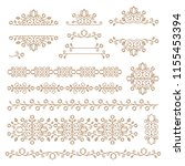 vintage ornaments and dividers. ...   Shutterstock .eps vector #1155453394