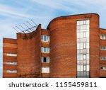 fragment of soviet modernism... | Shutterstock . vector #1155459811