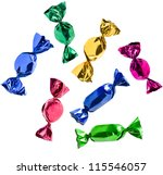 colorful candies collection ... | Shutterstock . vector #115546057