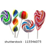 collection set of colorful... | Shutterstock . vector #115546075